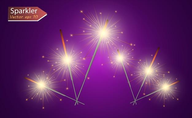 Magisch licht. sterretje. kaars die op de achtergrond sprankelt. realistisch lichteffect.