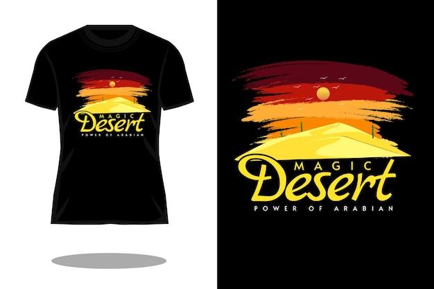 Magisch woestijn retro vintage t-shirtontwerp