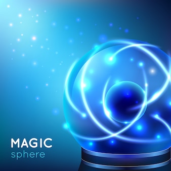 Magische bol illustratie