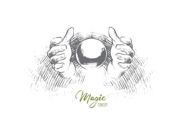 Magische concept illustratie