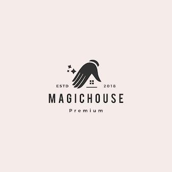 Magische huis logo vector pictogram illustratie