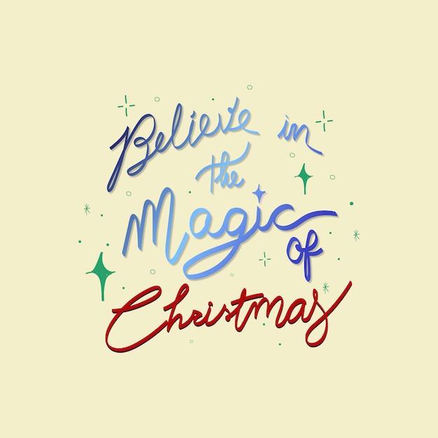 Magische kerst offerte sticker, feestelijke typografie vector