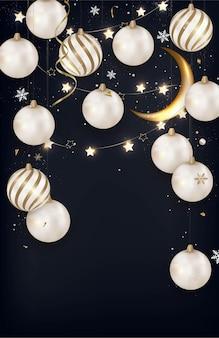Magische kerstnacht verticale achtergrond