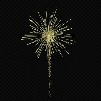 Magische licht gloei effect sterren barst met sparkles geïsoleerd op transparante achtergrond. licht spoor