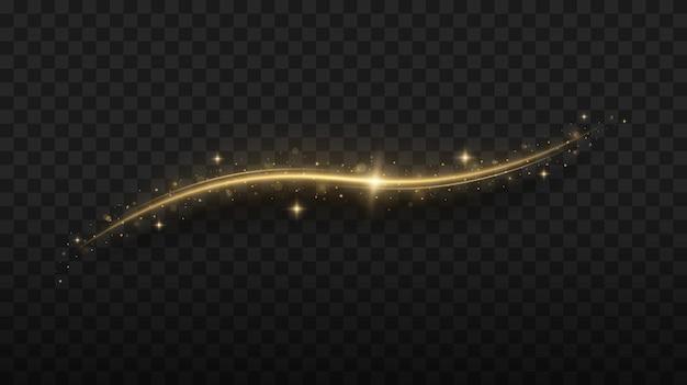 Magische lichtpaden abstracte kerstversiering gloeiende glitter schittert