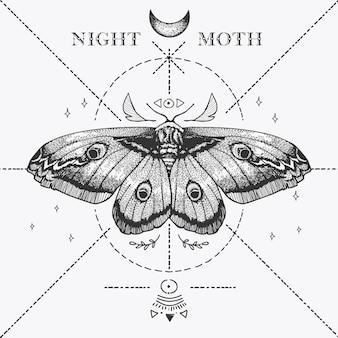 Magische nachtvlinder schets