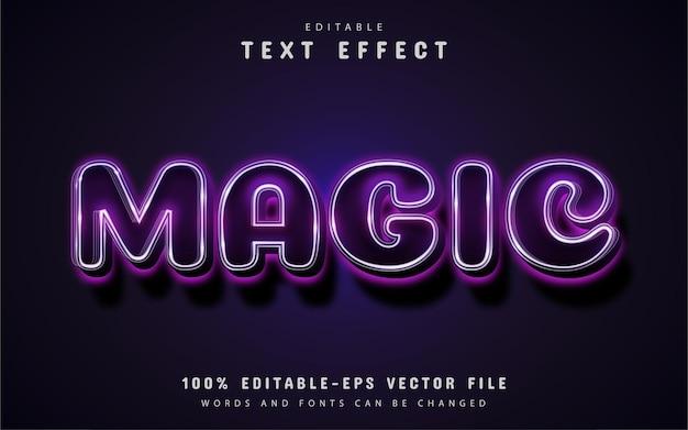 Magische tekst, bewerkbaar paars teksteffect