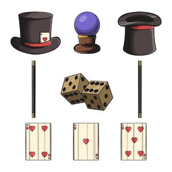 Magische tool set elementen en vector