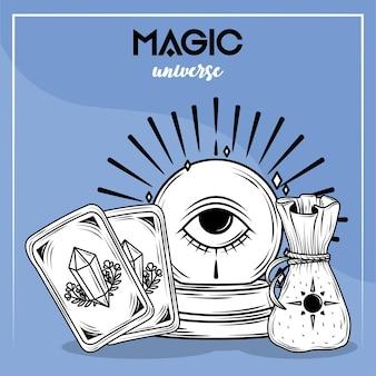 Magische universum-kaart