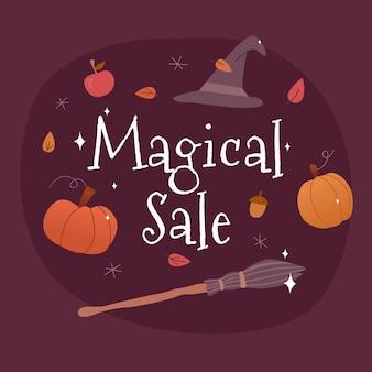 Magische verkoopachtergrond