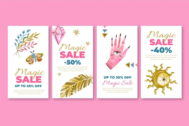 Magische winkel instagram verhalen sjabloon