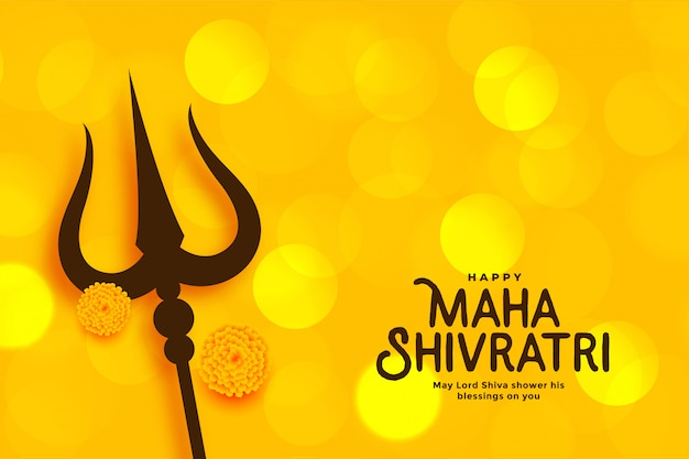 Maha shivratri festival prachtige wenskaart
