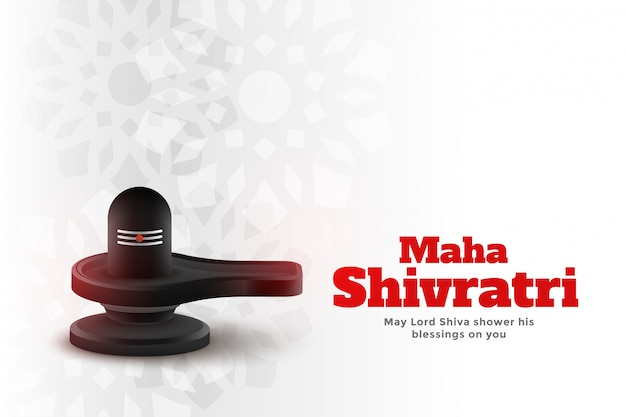 Maha shivratri indiase traditionele festival achtergrond