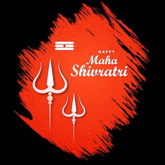Maha shivratri lord shiva trishul voor kaart