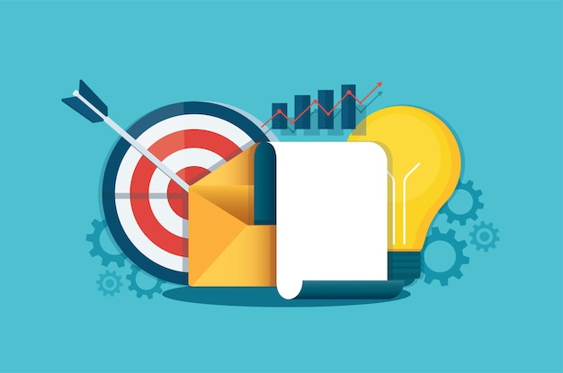 Mail bericht concept. bedrijfsanalist