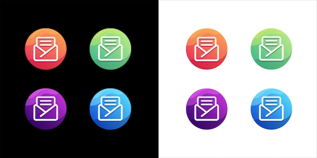 Mail logo ontwerpset