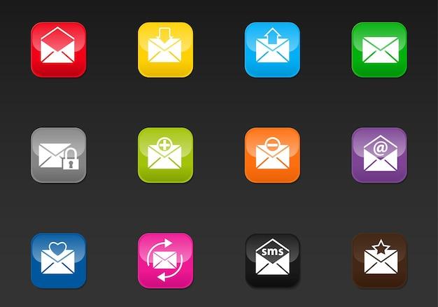 Mail professionele webpictogrammen voor uw ontwerp