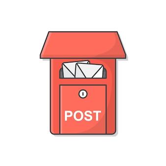 Mailbox. postbus. volledige brievenbus