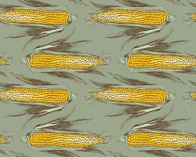 Maïskolven uitstekend ontwerp naadloos patroon.