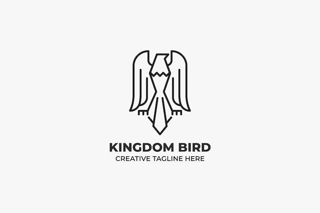 Majestic eagle bird monoline bedrijfslogo