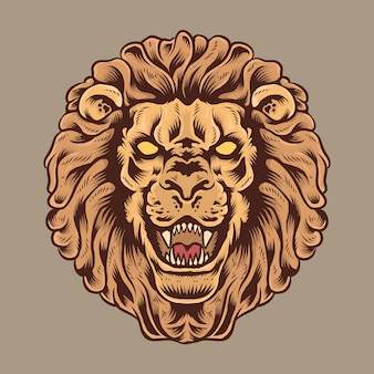 Majestueuze leeuwenkop illustratie
