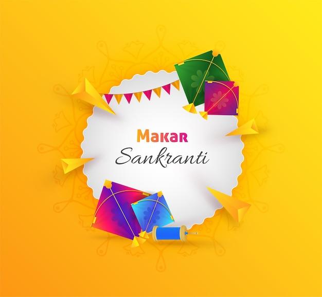 Makar sankranti festival viering groet ontwerp