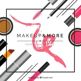 Make-up accessoires achtergrond