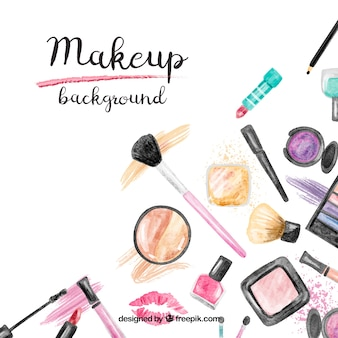 Make-up accessoires achtergrond