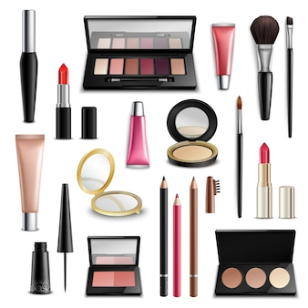 Make-up cosmetica-accessoires realistic.items-collectie