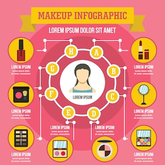 Make-up infographic concept.