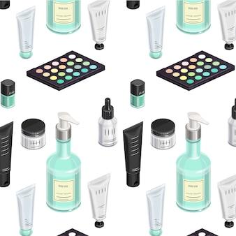Make-up kit patroon isometrisch