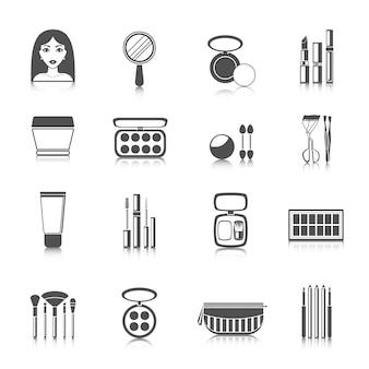 Make-up pictogrammen zwart