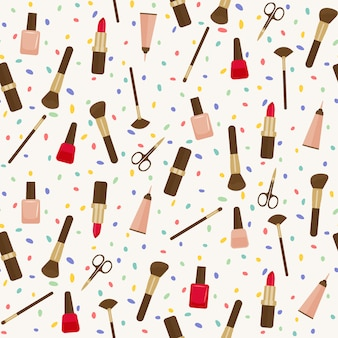 Make-up tools naadloze patroon