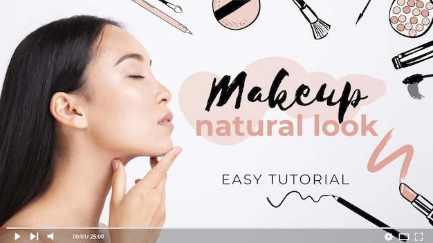 Make-up tutorial youtube-miniatuur