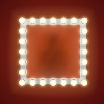 Make-upspiegel met elektrische lampen