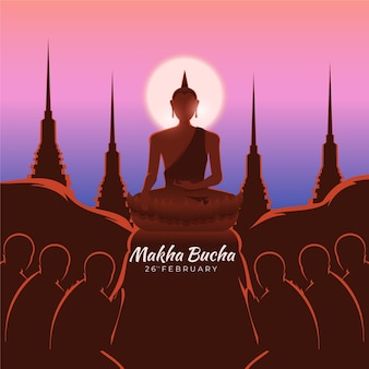 Makha bucha dag illustratie