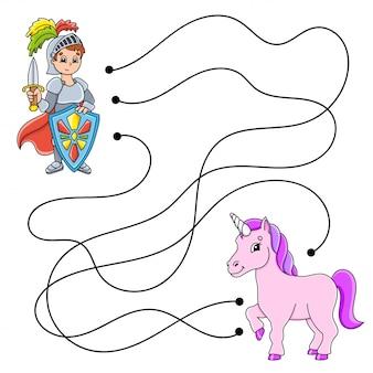 Makkelijk doolhof. labyrint voor kinderen. activiteit werkblad. puzzel voor kinderen.
