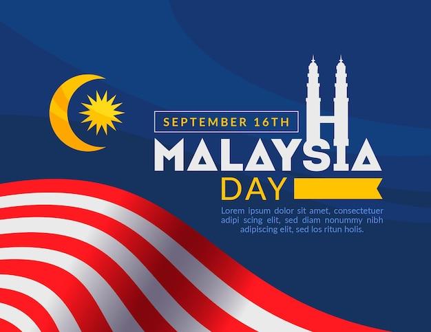 Maleisië dag evenement ontwerp