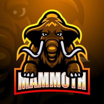 Mammoet mascotte esport illustratie