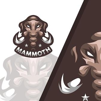 Mammoet mascotte illustratie