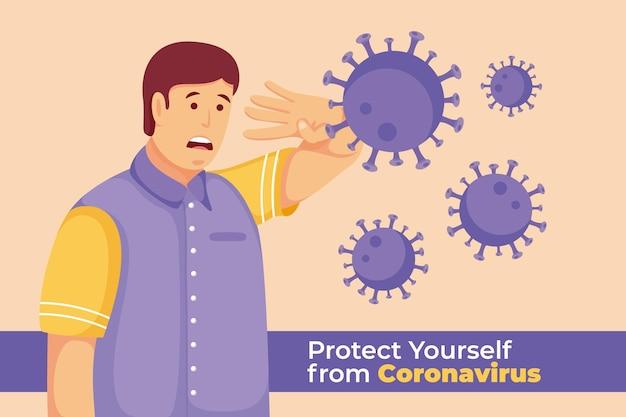 Man bang voor covid-19-ziekte