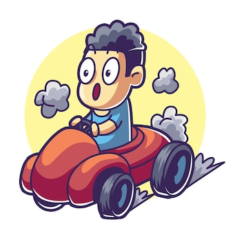 Man besturen van een auto