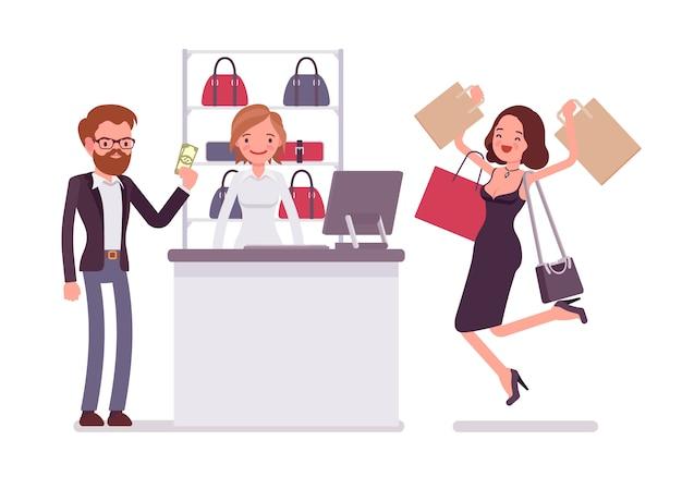 Man betalen om te winkelen