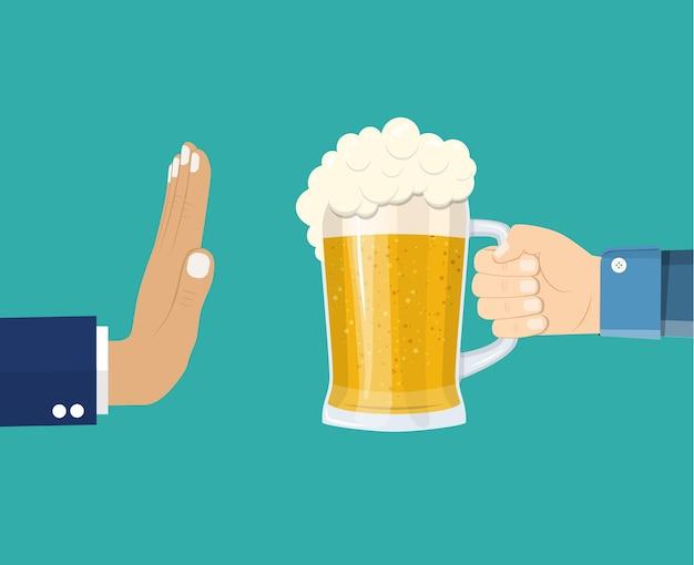 Man biedt te drinken aan