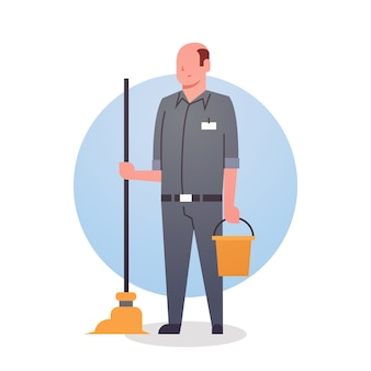 Man cleaner icon cleaning service