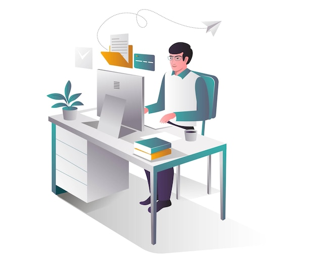 Man die e-mail en online betaling verzendt