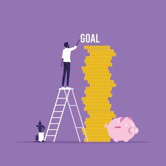 Man die geld van inkomen meet omzetgroeimeting van inkomen