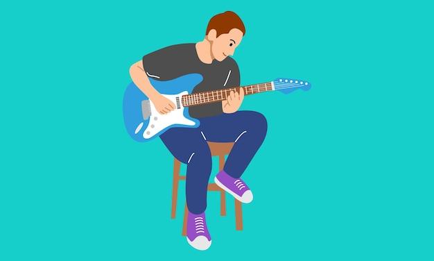 Man die gitaar speelt