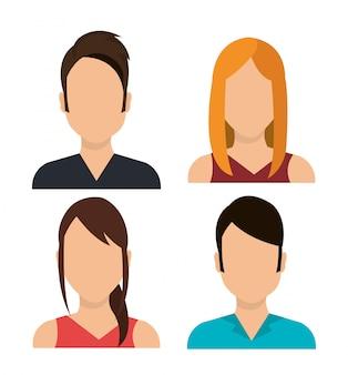 Man en vrouw avatars