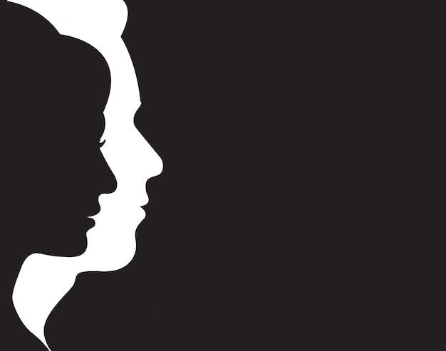 Man en vrouw symbool